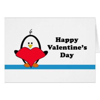 Penguin Heart Valentine Card