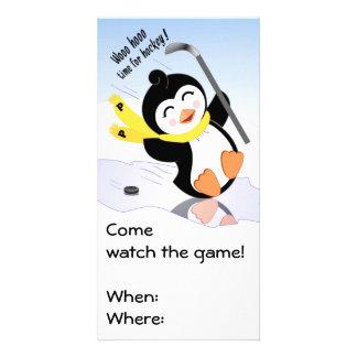 Penguin Hockey Invitation Photo Card