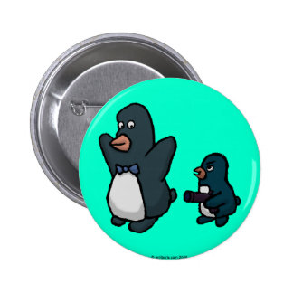 Penguin Hold Up! 2 Inch Round Button