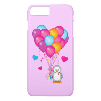 Penguin Holding Balloons in the Shape of a Heart iPhone 7 Plus Case