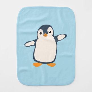 Penguin Hug Baby Illustration Burp Cloth