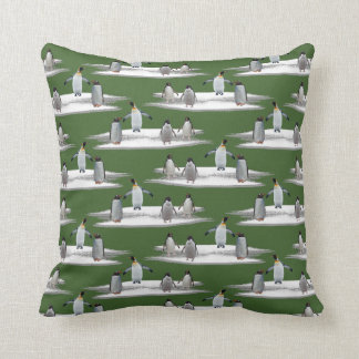 Penguin Iceberg Party Pillow (Green)