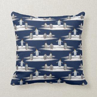 Penguin Iceberg Party Pillow (Navy)
