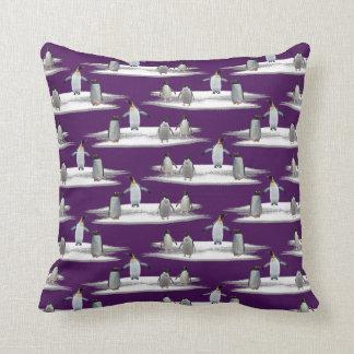 Penguin Iceberg Party Pillow (Purple)
