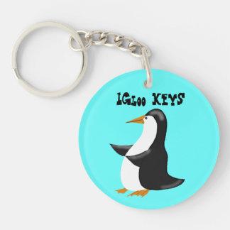 Penguin Igloo Keychain