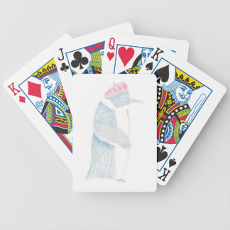 Penguin In A Beret Bicycle Playing Cards