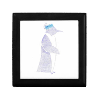 Penguin In A Fancy Hat Gift Box