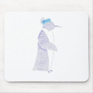 Penguin In A Fancy Hat Mouse Pad