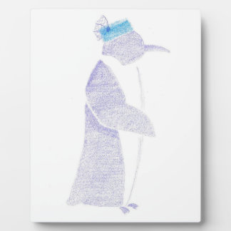 Penguin In A Fancy Hat Plaque