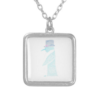 Penguin In A Top Hat Silver Plated Necklace