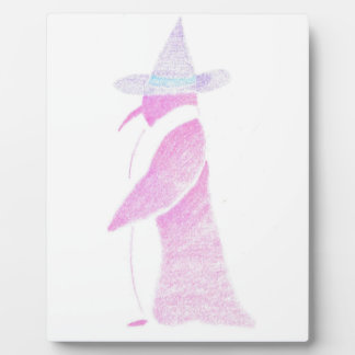 Penguin In A Witch's Hat Plaque