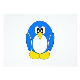 "Penguin in Blue 4.5"" X 6.25"" Invitation Card"