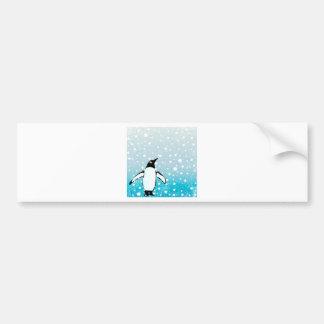 Penguin In The Snow Bumper Sticker