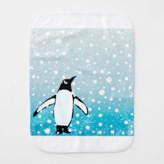 Penguin In The Snow Burp Cloth