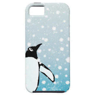 Penguin In The Snow iPhone 5 Cases
