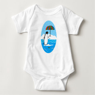 Penguin in the Snow on Baby Jersey Bodysuit