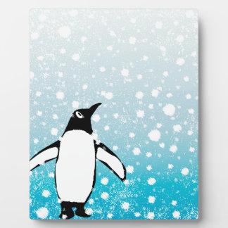 Penguin In The Snow Plaque