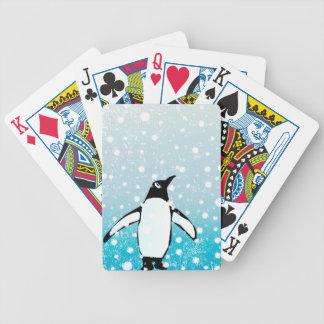 Penguin In The Snow Poker Deck