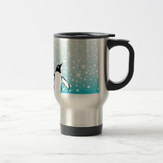 Penguin In The Snow Travel Mug