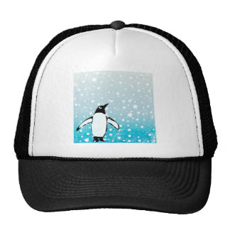 Penguin In The Snow Trucker Hat