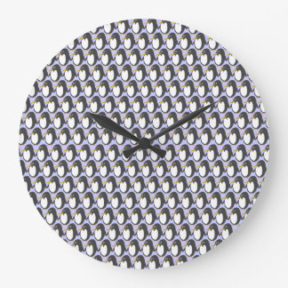 Penguin Invasion Round Clock