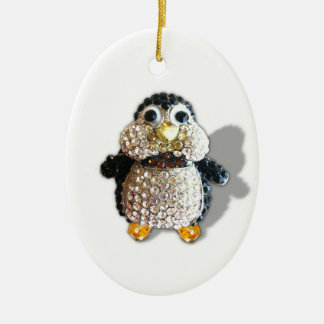 Penguin Jewel Add Text  & Choose Colors You Want Ceramic Ornament