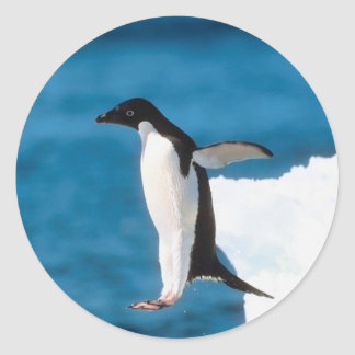 Penguin Jumping Sticker