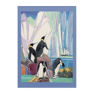penguin land acrylic wall art