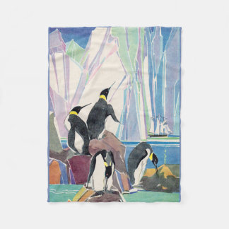 penguin land fleece blanket
