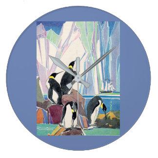 penguin land large clock