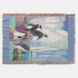 penguin land throw blanket