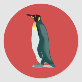 penguin linux image classic round sticker