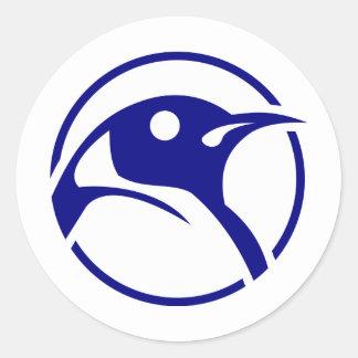 Penguin linux image classic round sticker
