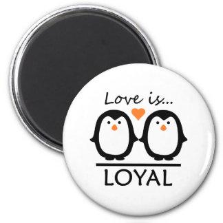 Penguin Love 2 Inch Round Magnet