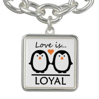 Penguin Love bracelet / charm