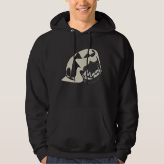 Penguin love in contrast hoodie