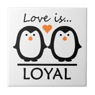 Penguin Love tile