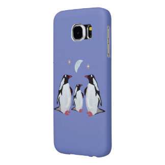 Penguin Moon Samsung Galaxy S6 Cases