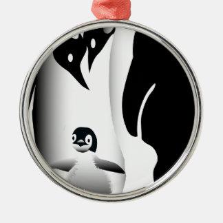 Penguin Mug Metal Ornament
