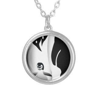 Penguin Mug Silver Plated Necklace