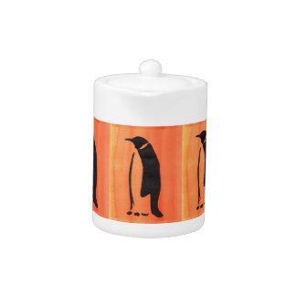 Penguin On Orange