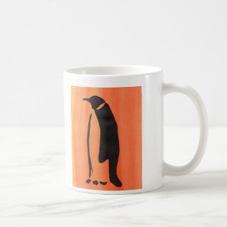 Penguin On Orange Coffee Mug