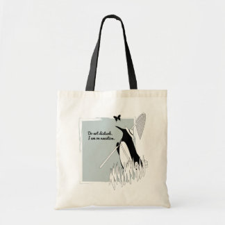 Penguin on Vacation Funny Cute Illustration Tote Bag