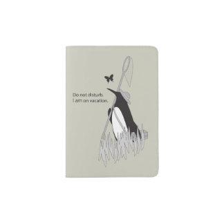 Penguin on Vacation Original Design Funny Chic Passport Holder