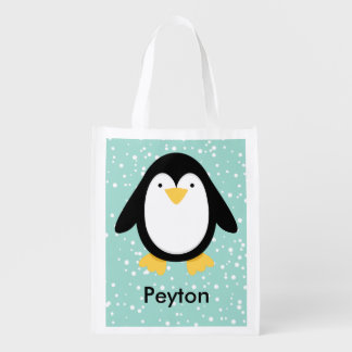 Penguin Pals Reusable Grocery Bags