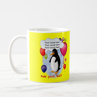 Penguin Party Animal Classic White Coffee Mug