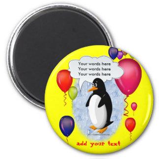 Penguin Party Animal Refrigerator Magnet
