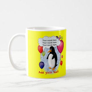 Penguin Party Animal Basic White Mug