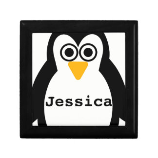 Penguin Party Customisable Gift/Jewellery Box