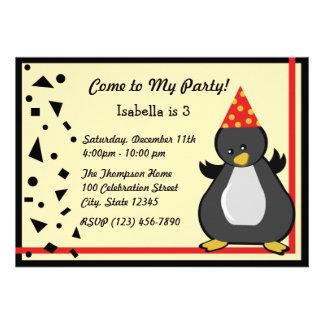 Penguin Party Invites